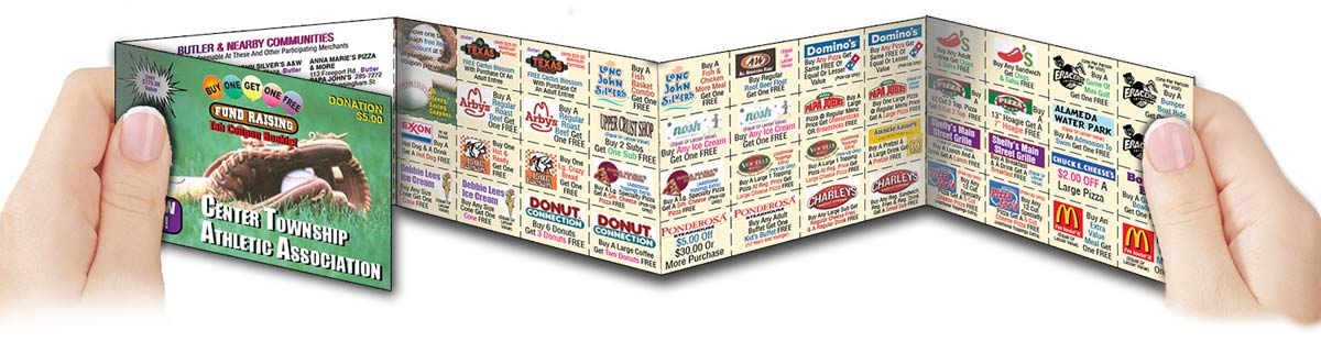 coupon booklets for fundraising